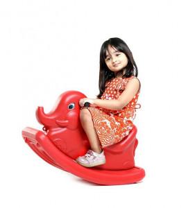 Rocker Elephant Red