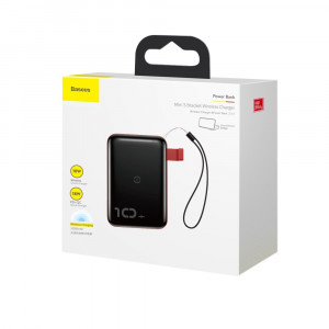 Baseus Mini S Bracket Power Bank 10000mAh With 10W Wireless Charger