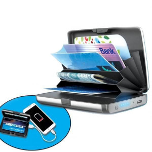E-Charge Wallet With Power Bank System Card Holder