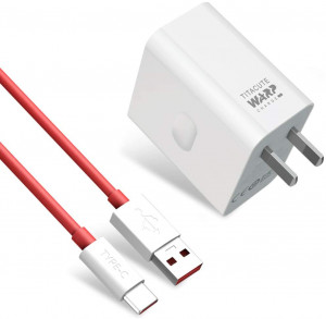 Original OnePlus Warp Charge 30W Power Adapter With Charging Cable