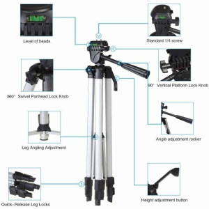Tripod-330A Pro 3 Way Head Camera Stand