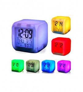 7 Color Digital LED Clock With Alarm -C: 0187.