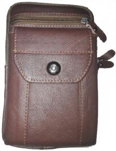 Leather Long Push Button 05 Pockets Bag -C: 0322