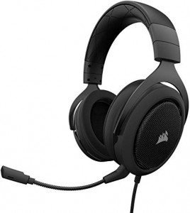 Corsair HS50  CA-9011170-AP Wired Black Stereo Gaming Headset-Carbon (AP)
