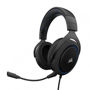 Corsair HS50 CA-9011172-AP Wired Black Stereo Gaming Headset-Blue (AP)