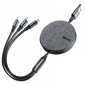 Baseus Fabric 3 in 1 Flexible USB Cable