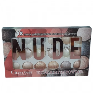 Chanlanya Nude 18 Colors Palette Highlighter Powder