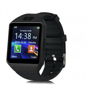 DZ09 SIM and Bluetooth Supported Smart Watch - Black