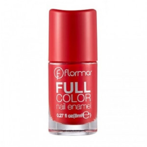 Flormar Full Color Nail Enamel FC08 Optimistic Red - 8ml