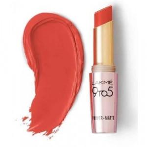 Lakmé 9 To 5 Primer + Matte Lip Color Brick Blush