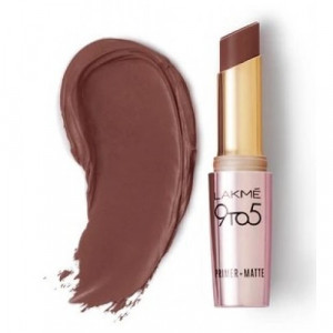Lakmé 9 To 5 Primer + Matte Lip Color Brown Walnut