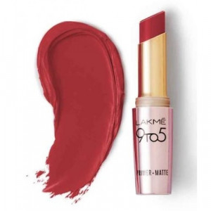 Lakmé 9 To 5 Primer + Matte Lip Color Cherry Chic