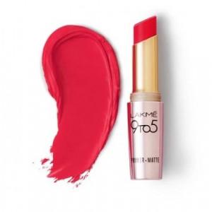 Lakmé 9 To 5 Primer + Matte Lip Color Pink Rose