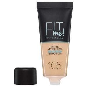 Maybelline Fit Me Matte & Poreless Foundation 105 Natural Ivory 30ml