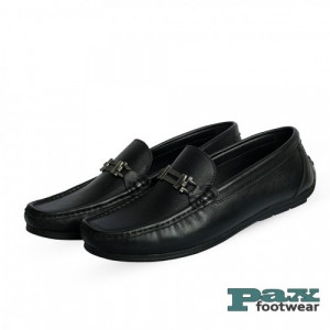 PAX Leathers Loafer Leather Shoe Black for Men