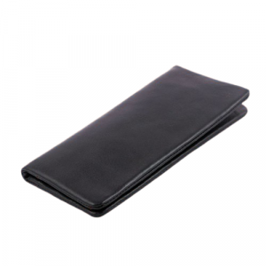 Leather Mobile Wallet 100% Genuine Leather Black (PW-212)