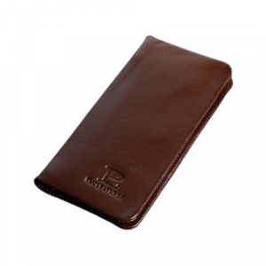 Leather Mobile Wallet 100% Genuine Leather Chocolate (PW-252)