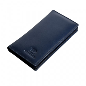 Leather Mini Purse 100% Genuine Leather Mens Wallet Blue (PW-255)