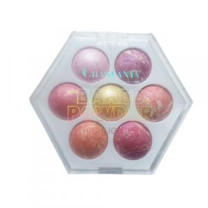 Chanlanya Baked Powder Highlighter Blush Palette 7 Colors