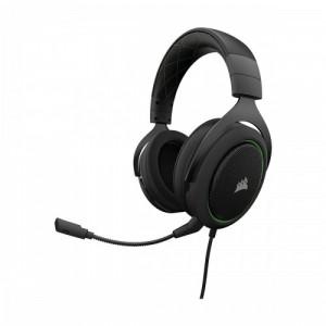 Corsair HS50 CA-9011171-AP Wired Black Stereo Gaming Headset-Green (AP)