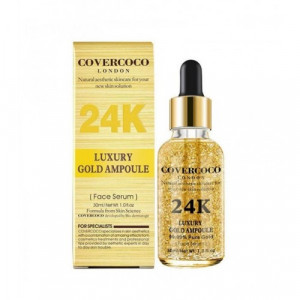 Covercoco London 24K Luxury Gold Ampoule Face Serum 30ml