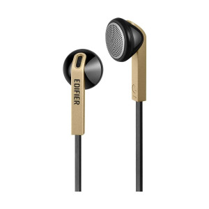 Edifier H190 Hi-Fi Sound Comfortable Fit Wired Black Gold Earphones