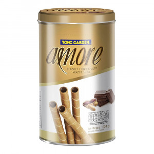 Tong Garden Peanuts Chocolate Wafer Roll - 300 Gm