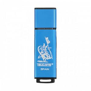 Teutons Metallic Creek Blue 16GB USB 3.1 Gen-1 Flash Drive